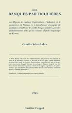 Cover DES BANQUES PARTICULIÈRES